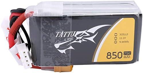 RaiFu Lipoバッテリー ドローン ACE TATTU 11.1V 850mAh 75C 9.44Wh 3S 1P XT30プラグ