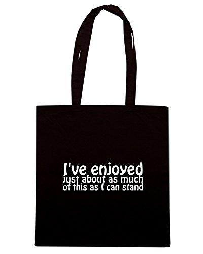 T-Shirtshock - Bolsa para la compra ENJOY0113 I ve enjoyed just about as much of this as I can stand Negro