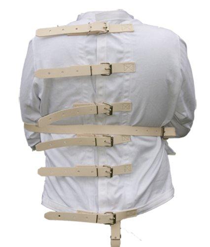 5XL Tan leather strap straight Jacket