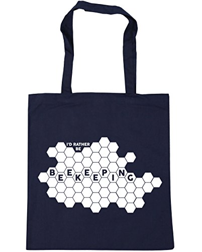x38cm Tote Navy Beekeeping Gym Be HippoWarehouse 10 Beach Rather Bag French I'd Shopping litres 42cm wIxav1q