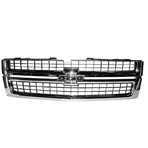 KEYSTONE 25825521 FITS SILVERADO REPLACEMENT GRILLE 2500 3500 BLACK W CHROME FRAME (Silverado 3500 Grille)