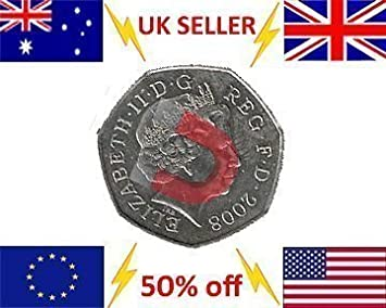 Stark Magnetische 50 Pence Zaubertrick Münze 50p Magnetische Münze