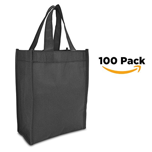 DALIX Shopping Resuseable Black 100 PACK