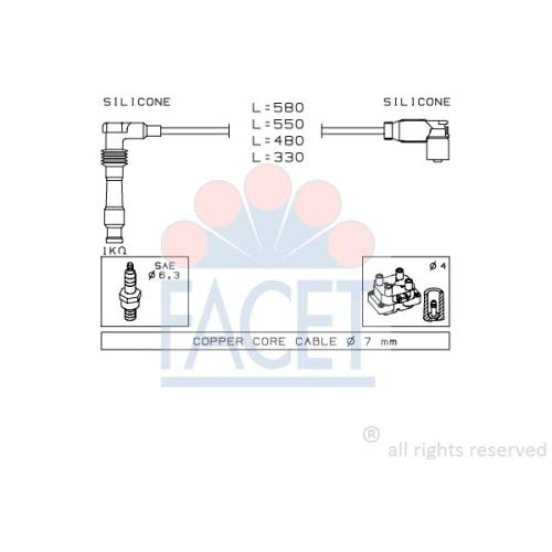 Facet 4.9559 Ignition Leads Kit: