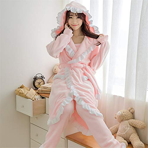 Warm Coral L158 Be And Winter Flannel 57kg Worn Service 164cm Pajamasx Pajamas Can Female Autumn Outside Home Velvet 47 Thick F5OX8aqwX