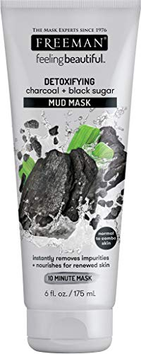 Freeman Charcoal & Black Sugar Mud Mask,6 ounce (Freeman Facial Mask)