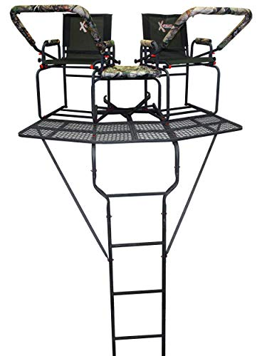 X-Stand Treestands The Comrade Ladderstand The Comrade 18' Two-Person Ladderstand Hunting Tree Stand, Black (Best Hunting Tree Stand)