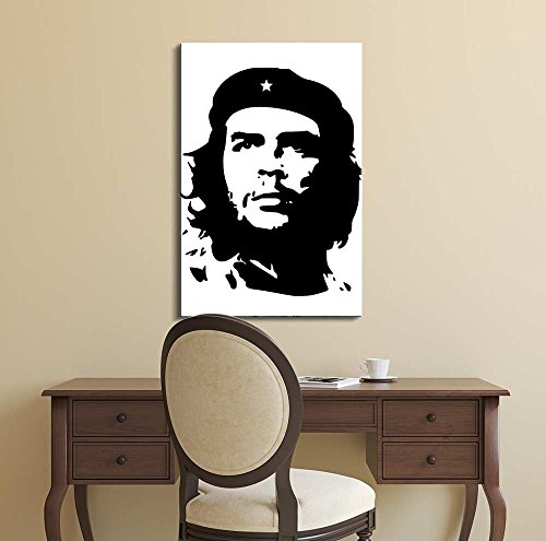 Portrait of Che Guevara in Black and White Wall Decor