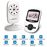 Video Baby Monitor with Camera and Infrared Night Vision, Two-Way Talkback, and Temperature Monitor - Long Range, Monitor Your Baby All Round The Clock,Include 2 Piece Outlet Protector