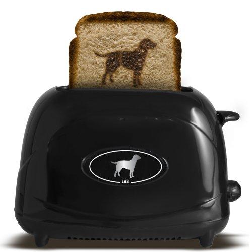 Pangea Brands TSTE-PET-LAB 2-Slice Pet Emblazing Toaster, Lab