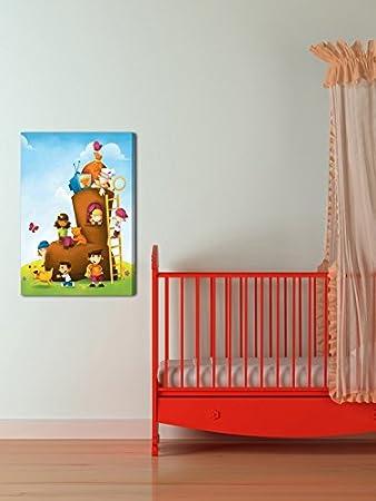 Marmont Hill Vintage-Kids Shoe House II Canvas Wall Art 24 X 36