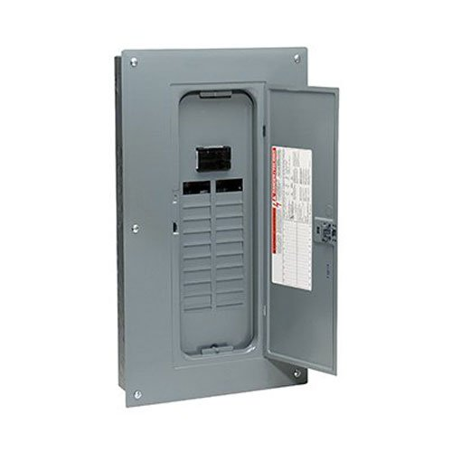 - Square D by Schneider Electric HOM2040M100PC Homeline 100 Amp 20-Space 40-Circuit Indoor Main Breaker Load Center with Cover (Plug-on Neutral Ready),
