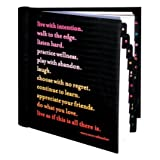 QuotableCards Live With Intention Address Book by QuotableCards