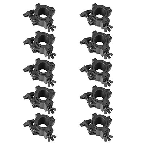 10 Pack Stage Lighting Clamps for DJ Lighting Products Plastic O Clamp Fit 3 Size Pipe Diameter: 25mm 36mm 48mm