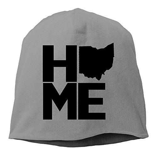 Oiir Ooiip Men Warm Beanie Cap Cotton Winter Cap Home Ohio 2 DeepHeather