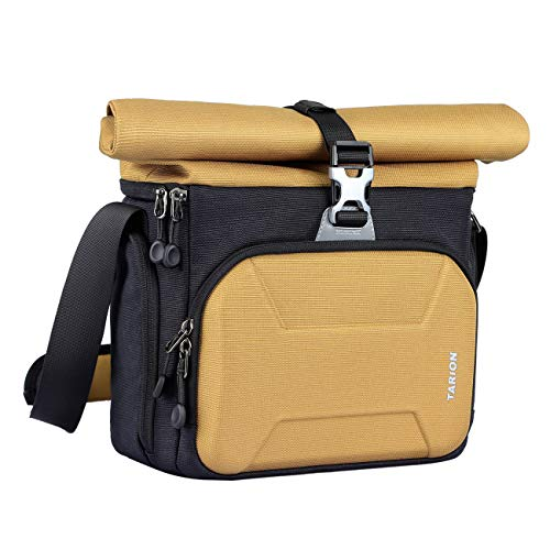 TARION XHS Camera Bag Case Shoulder Sling Bag Roll Top Waterproof Raincover for DSLR Mirrorless Cameras Lens Outdoor Men Women Compact Camera Shoulder Bag