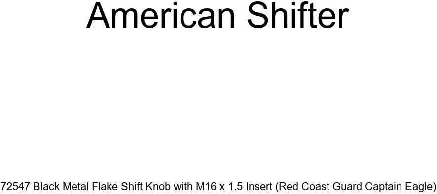 Red Coast Guard Captain Eagle American Shifter 72547 Black Metal Flake Shift Knob with M16 x 1.5 Insert