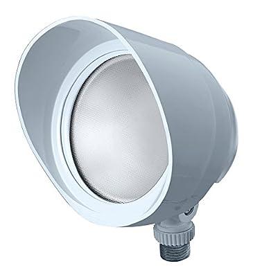 RAB Lighting BULLET12W LED Floodlight, 12W, 120V, 5000K, White