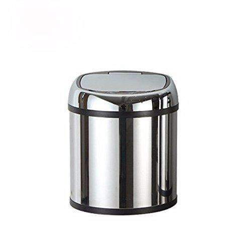 Sensor dustbin mirror stainless steel intelligent sensor dustbin sanitary bucket,6L(246290mm) by Vory