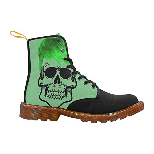LEINTEREST funny Skull, green Martin Boots Fashion Shoes For Men
