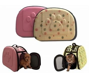 Transportín Bolsa Caseta para perro gato conejo Plegable con correa mango 40 x 28 x 33 cm talla pequeño.: Amazon.es: Deportes y aire libre