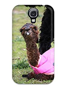 Premium Alpaca Back Cover Snap On Case For Galaxy S4