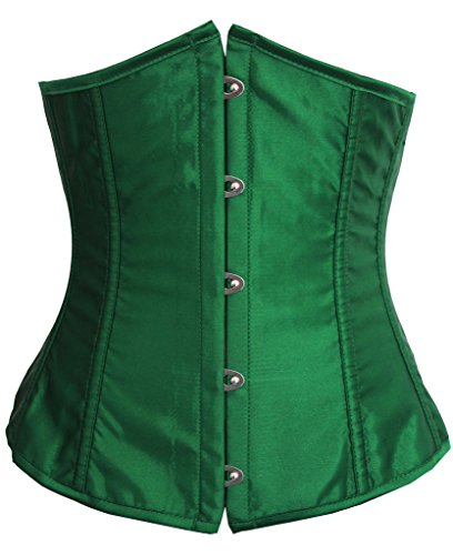 Alivila.Y Fashion Womens Satin Sexy Underbust Waist Training Corset 2686A-Green-2XL (Sexy Corset Costumes)