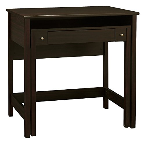 Bush Furniture Brandywine Writing Desk for Small Spaces in Porter (Top Roll Desk Wood)