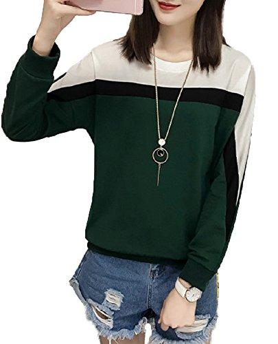 【Smile LaLa】 レディース カジュアル トップス シンプル Tシャツ カットソー 長袖 オーバー ゆる 薄手 オシャレ クール 着回し