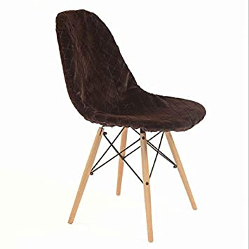 Cover Stylish Losange Pour Eames Fourrure Marron Chaise Housse KJc31TlF