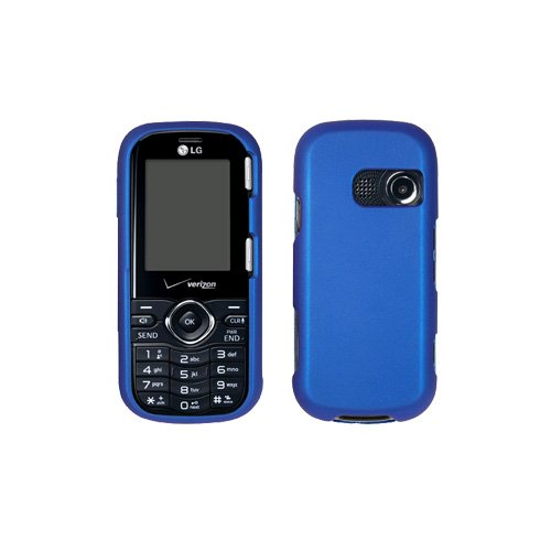 LG Cosmos VN250 Rubberized Hard Snap-On Case (Blue) (Lg Cosmos Vn250 Case compare prices)