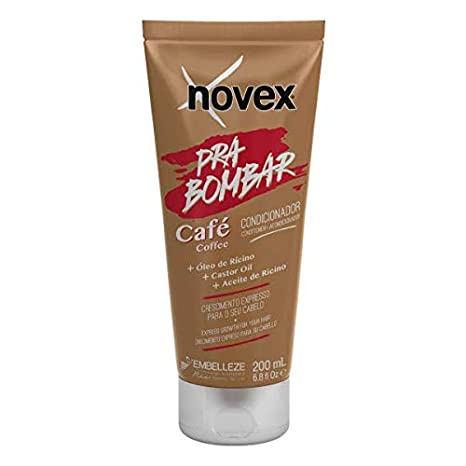 Novex Acondicionador Pra Bombar Café 200mL - Hair boost crecimiento cabello: Amazon.es: Belleza