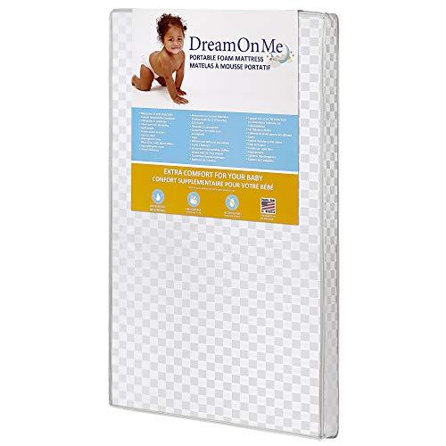 (Dream On Me Travel Lite, Mini Foam Playard Mattress with Round Corner)