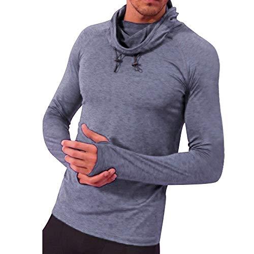 Scoop Jumper - Londony ♥‿♥ Clearance Sales,Basic Tops for Mens Slim Fit Basic Sport Longsleeve Scoop Neck Pullover Sweatshirt