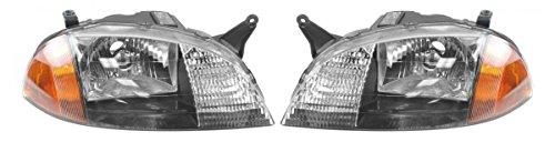 Headlights Headlamps Left & Right Pair Set for 98-01 Geo Metro Firefly