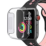 Compatible for Apple Watch 4 Case 44mm 2018, KASOS Case for Apple Watch Protective Case Shock Absorption Half Cover Soft TPU Rubber Bumper Case for 44mm Apple Watch Series 4 (Half Cover)