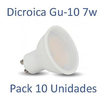 10 Gu Friapack Unidades Dicroica Led Bombilla 7w 6400ºkluz 8XOwn0Pk