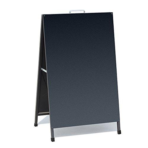 VAIIGO A Type Black Iron Double Exhibition Stand Strengthen The Folded Poster Frame Outdoor Advertising Display Card Chalkboards by vaiigo
