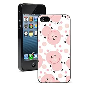For Apple iPhone 4 4S Hard Case Cover Happy Pigs by lolosakes