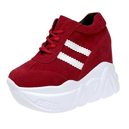 Zapatos De Lona,Versión Coreana De Los Versátiles Zapatos De Plataforma,Calzado Deportivo Casual De La Mujer A
