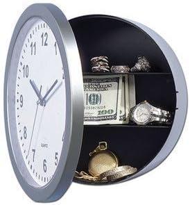Reloj de pared con caja fuerte. Discreto. Permite ocultar objetos. Diseño con bisagras. Reloj real.: Amazon.es: Hogar