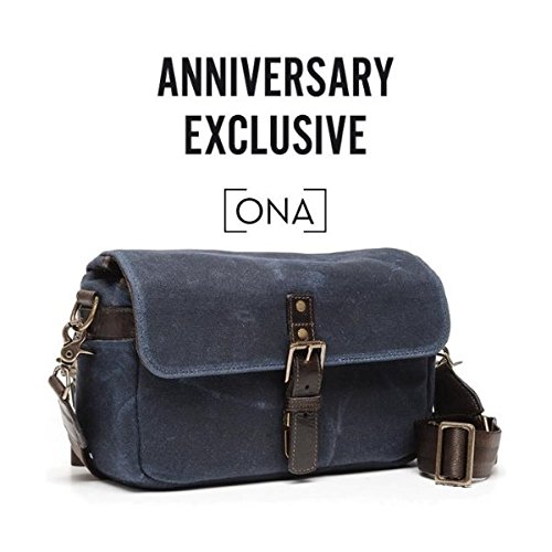 Bowery Camera Bag (Canvas, Oxford Blue) One_Size Navy Blue Waxed Canvas & Leather B07759R5L3