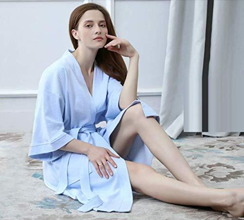 cuello Pijama Mangas Mujer C Cómodo V Cinturón Fashionista Sólido Otoño Con Kimono Elegantes Camisones Pijamas Moda Largos Primavera Medias Color Albornoz Casual raRrx
