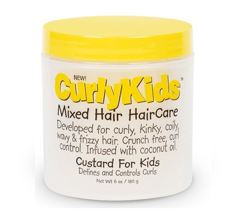 CurlyKids Mixed Hair Haircare Custard for Kids, 6 Ounce