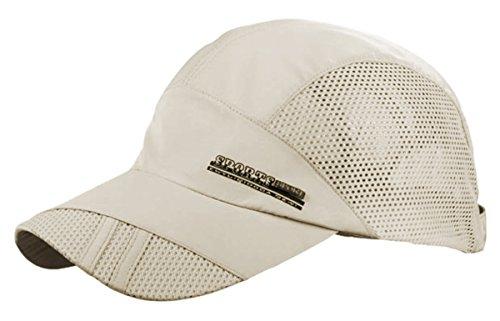 Feoya Men s Summer Outdoor Sport Outdoor Sports Mesh Hat Running Visor Sun  Cap 81b781dcf5a0