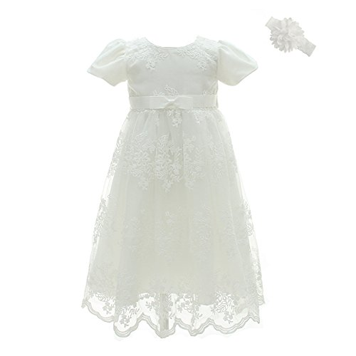 Moon Kitty 2PCS Baby Girls Dresses Christening Baptism Gowns Formal Dress ...]()