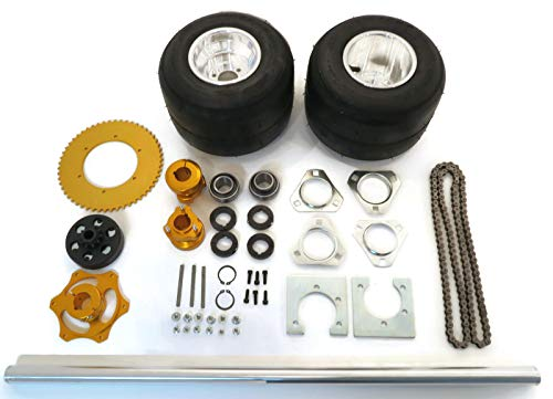 - | 40 Inch Shaft Kit for Drift Trike Bikes with (3) Key Stocks 6x80, Chain #420