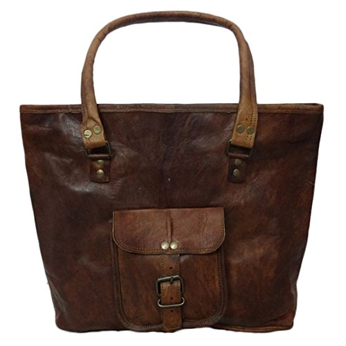 Mad Over Shopping, Sacchetto di spalla casuale della borsa di Tote Handmade dell'annata della borsa delle donne genuine del cuoio