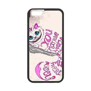 ALICE IN gato de Cheshire a la Mejor funda iPhone 6 6s de 4.7 pufunda LGadas del teléfono celular Funda cubren negro