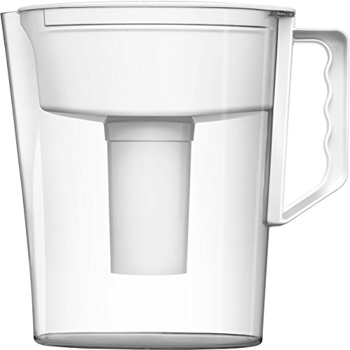 Brita Slim Water Filter Pitcher, White, 5 Cup